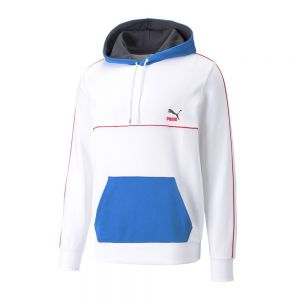 CLSX PIPED HOODIE TR Bianco