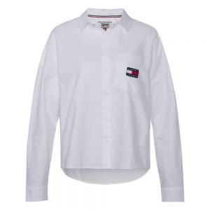 TOMMY BADGE SHIRT Bianco