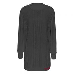 TJW CABLE SWEATER DR Nero