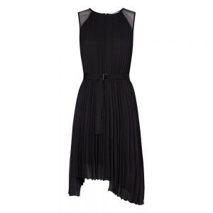 S/L PLEATED DRESS Nero