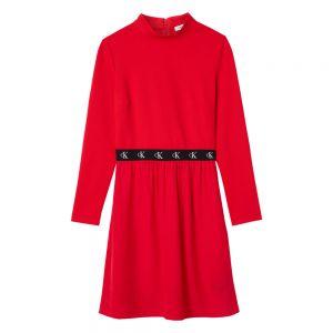 LOGO ELASTIC DRESS Rosso