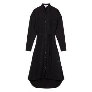 TENCEL MAXI SHIRT DRESS Nero